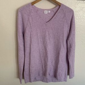 GAP Waffle Knit Lightweight V-Neck Sweater